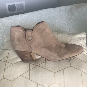Tan Suede Ankle Booties - gently used